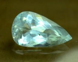 10.20 cts Pear Shape Cut Untreated Aquamrine Gemstone From Pakistan (A)