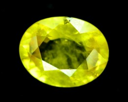 0.80 cts Oval cut Heated Yellow Sapphire Gemstone From Srilanka