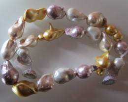 CLASS NATURAL BAROQUE PEARL NECKLACE 45cm  20/30mm