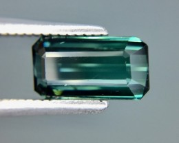 1.16 Cts Untreated Indicolite Tourmaline Awesome Color ~ Afghanistan Kj88