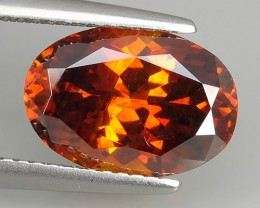 4.75 Cts_Flaming Fire Orange_Rare Spain_Oval Cut_Sizzling Sphalerite