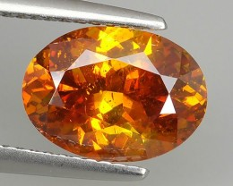 3.70 Cts_Flaming Fire Orange_Yellow-Rare Spain_Oval Cut_Sizzling Sphaler