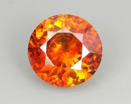 3.90 Cts Natural Top Rich Fire Sunset Orange Sphalerite Round Spain