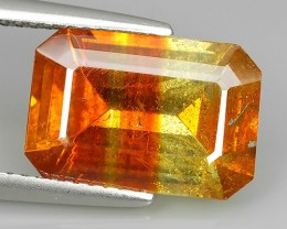 6.85 Cts_Flaming Fire Orange_Rare Spain_Octagon Cut_Sizzling Sphalerite