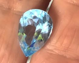 6.76ct Jewellery Grade Sparkling Blue Topaz No Reserve