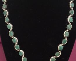 (B3) Wonderous Nat 147.0tcw. Zambian Emerald CZ Necklace