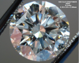 0.31ct D Color GIA certified White Diamond