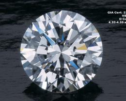 0.3ct D Color VS1 GIA certified White Diamond