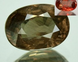 1.61 Cts Natural Color Change Garnet Oval Cut Tanzanian Gem