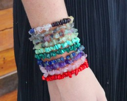 10 Beautiful Mixed Gemstone Bracelets SU 651