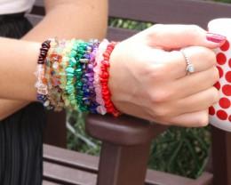 10 Beautiful Mixed Gemstone Bracelets SU 652