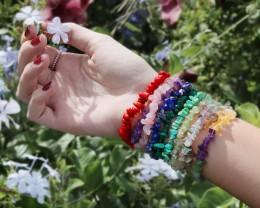 10 Beautiful Mixed Gemstone Bracelets SU 653