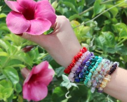 10 Beautiful Mixed Gemstone Bracelets SU 654