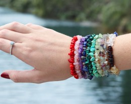 10 Beautiful Mixed Gemstone Bracelets SU 656