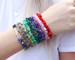 10 Beautiful Mixed Gemstone Bracelets SU 657