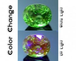 Rare 1.50 ct Ugrandite Fluorescent Grossular Garnet Merelani TanzaniaSKU 1