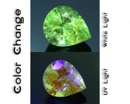Rare 1.26 ct Ugrandite Fluorescent Grossular Garnet Merelani TanzaniaSKU 1