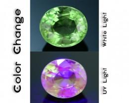 Rare 1.59 ct Tanzanian Fluorescent Grossular Mint Garnet SKU 1