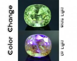 Rare 1.32 ct Ugrandite Fluorescent Grossular Garnet Merelani TanzaniaSKU 1