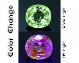 Rare 1.14 ct Ugrandite Fluorescent Grossular Garnet Merelani TanzaniaSKU 1