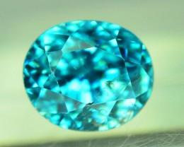 Top Grade 2.45 ct Blue Zircon~Cambodia