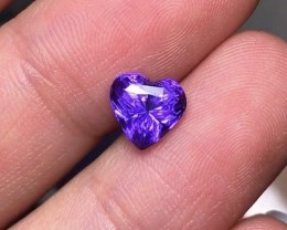 2.00Cts Vived Purple Sapphire EGL Certified