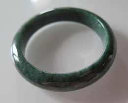 TOP QUALITY EMERALD JADE BANGLE NO TREATMENT 59mm