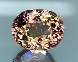 7.05 CT BI-TOURMALINE WITH SPARKLING LUSTER HIGH QUALITY GEMSTONE T1