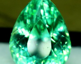 18.30 CT Pear Cut shape Green Spodumene Gemstone From Afghanistan (S)
