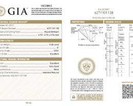 0.4ct VVS1 D-GIA certified White Diamond