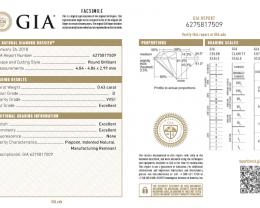 0.43ct VVS1 Triple EX cut GIA certified White Diamond