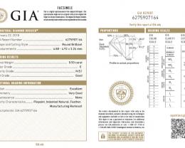 0.5ct E Color VVS1 GIA certified White Diamond