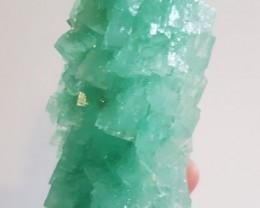 Neon green halite - 290 grams - Poland