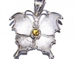 Pendant Silver  925 and Diamond  Cts.15.0  CV2