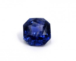 SOLD 5ct Octagon Unheated Blue Sapphire Indigo, Madagascar