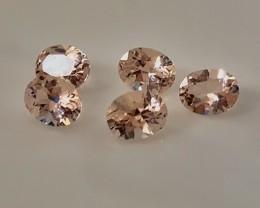 A parcel of 5 Jewellery grade Morganite gems