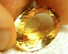 20.77 Carat Golden Brazil Citrine