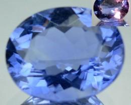 4.06 Cts Natural Color Change Fluorite Oval Cut Brazil Gem