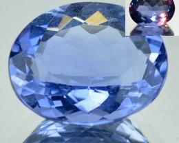 4.01 Cts Natural Color Change Fluorite Oval Cut Brazil gem