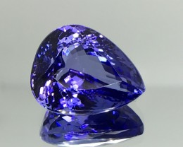 12.60 CT NATURAL AAA TANZANITE WITH SPARKLING LUSTER GEMSTONE