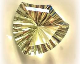 10.55ct Rare Cut Very light Green Amethyst  (Prasiolite) -