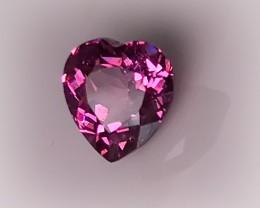 1.48ct Candy Pink Malaya Garnet - Heart cut VVS clarity