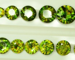 Amazing Color 68 ct 36 Pcs Chrome Sphene from Himalayan Range Skardu Pakist