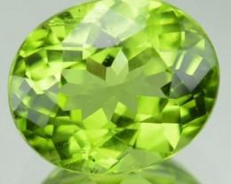 1.94 Cts Natural Pakistan Leaf Green Peridot Oval Cut Pakistan Gem