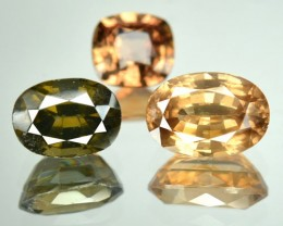 4.59 Cts Natural Fancy Zircon 3 Pcs Parcel Cambodia
