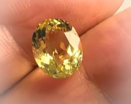 Glittering 3.30ct Golden Yellow Beryl (Heliodor) Stunning luster -
