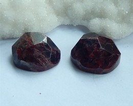 83ct Natural Garnet Facted Round Cabochon Pairs39x23x8mm (18030814)