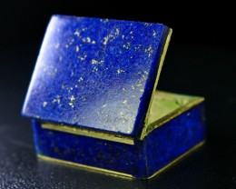 167 CT Natural lapis lazuli Carved Box Stone Special Shape