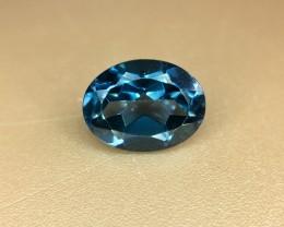 1.65 Crt Natural London Blue Topaz Faceted Gemstone (R 148)
