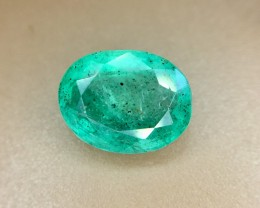 2.80 Crt Natural Zambia Emerald Faceted Gemstone (R 148)